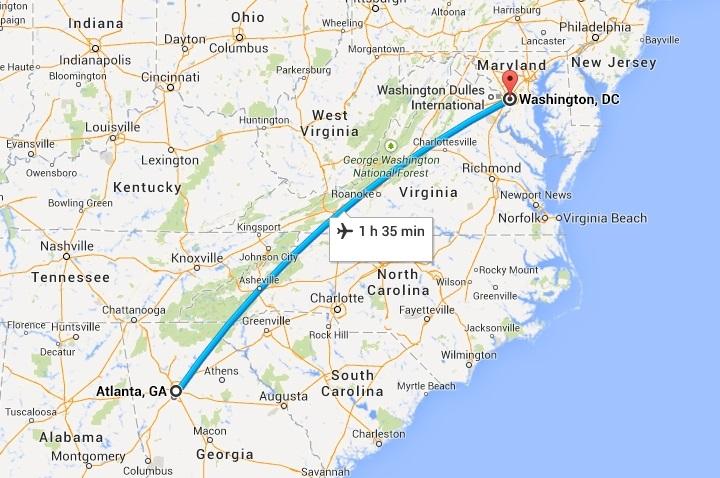 Atlanta to Washington DC